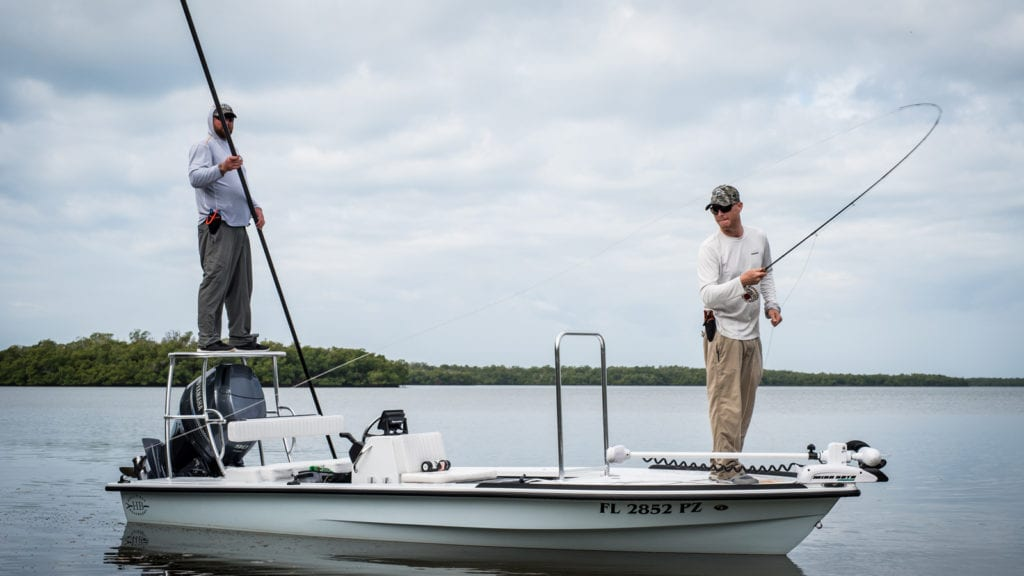 flats fishing on a hells bay with glades fly fishing charters in marco island